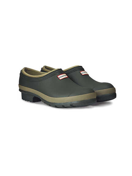 'Gardener Clog' in Dark Olive von Hunter