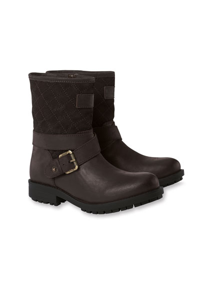 Barbour-Biker-Boots in Antikbraun
