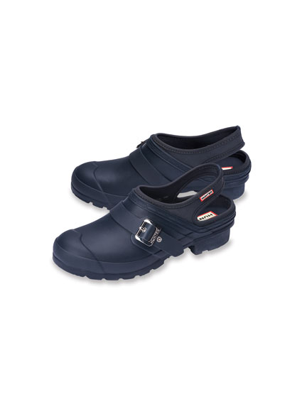 Garten-Clogs in Navy von Hunter