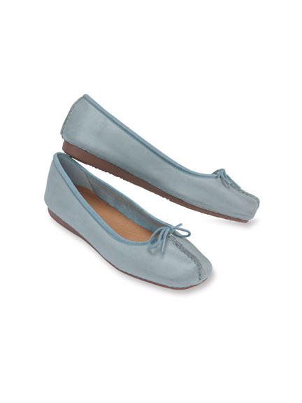 Clarks-Ballerinas in Light Blue